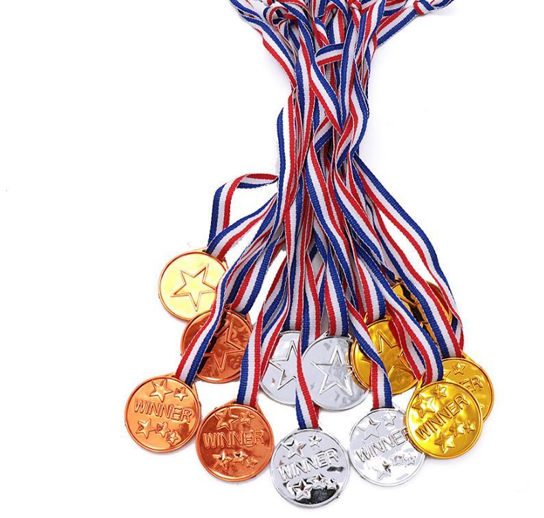 جائزة الميداليات الذهبية البرونزية والفضية مع الشريط البلاستيكي ، جائزة الفائز ، للأطفال ، والفصول الدراسية ، الألعاب المدرسية ، هدية رياضي...