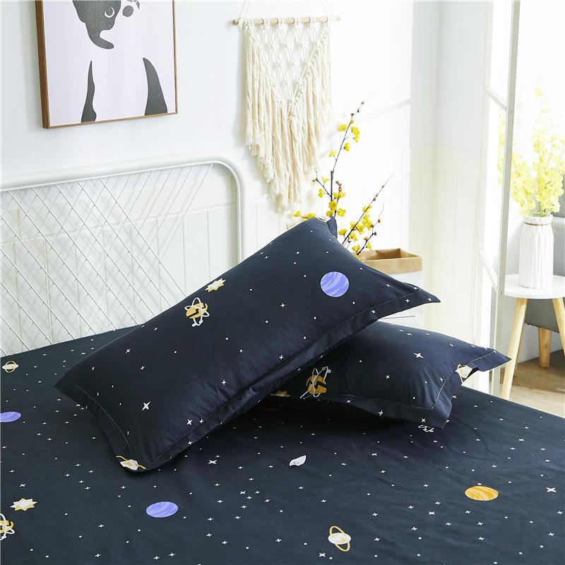 1/2 шт. Хлопковый чехол для подушки с принтом, удобный чехол для подушки, чехол для кровати, наволочки для подушки высшего качества, чехол для ... чехол