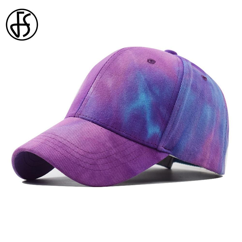 Gorra de béisbol con grafiti de tinta verde púrpura para hombre y mujer con visera ajustable Hip Hop