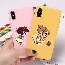 Étuis pour téléphone princesse cendrillon SonwWhite Belle Art pour Huawei P10 PLUS P20 P30 PRO LITE Honor 10 10 LITE 8A 8X 9 9LITE