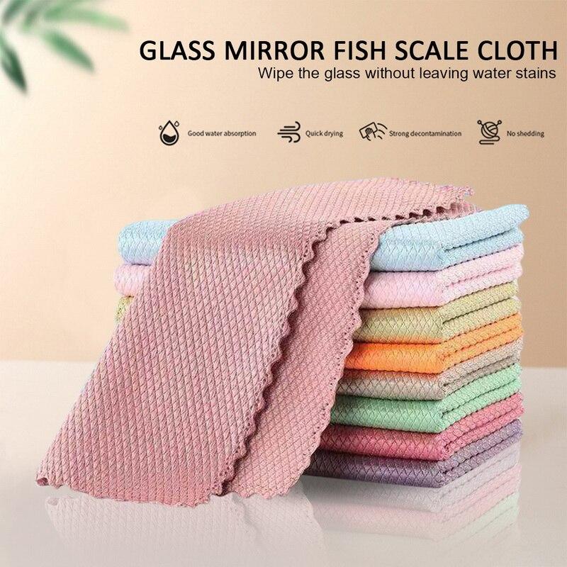Toallitas de limpieza de vidrio para el hogar, toallitas especiales a escala...