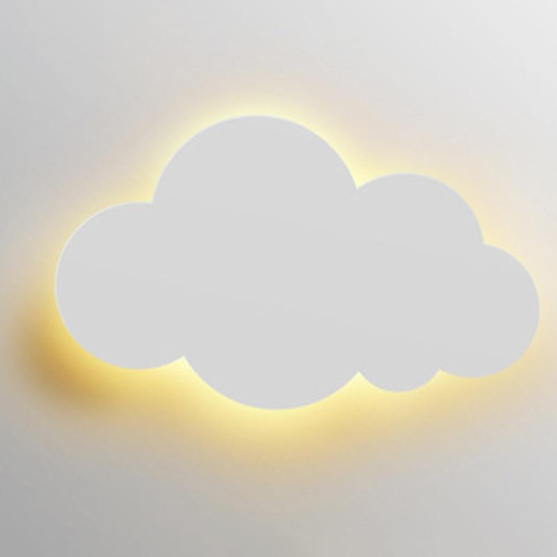 Светодиодная настенная лампа для детской, спальни, гостиной, Современные Настенные светильники с облаком, настенные боковые светильники белого/розового/синего/желтого цвета, 220 В