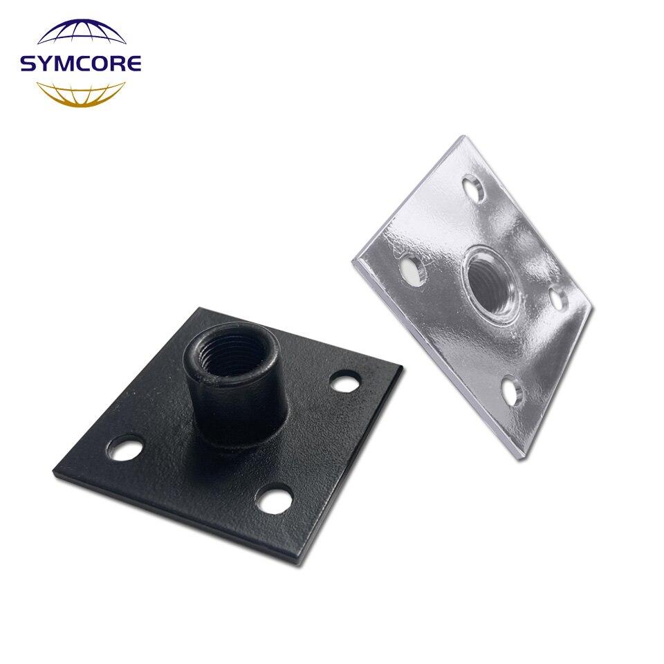 Base para lámpara de mesa M10 * 1, soporte fijo para manguera, portalámparas cuadrado, herramienta para máquina DIY, lámpara de pared, lámpara de escritorio, color plata y negro