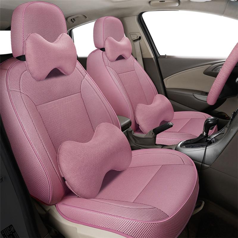 Lino negro cubiertas de asiento de coche para bmw e39 f10 e60...