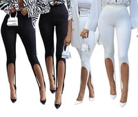 sexy long leggings women fashion streetwear solid white black pants summer trousers for 2021 y2k clothes party night clubwear