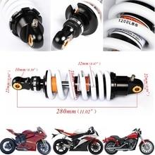 TDPRO 280mm Hinten Zurück Stoßdämpfer Motorrad Suspension Frühling Fit für 125cc 140cc 160cc Dirt Pit Pro Bike Quad ATV 1200Lbs
