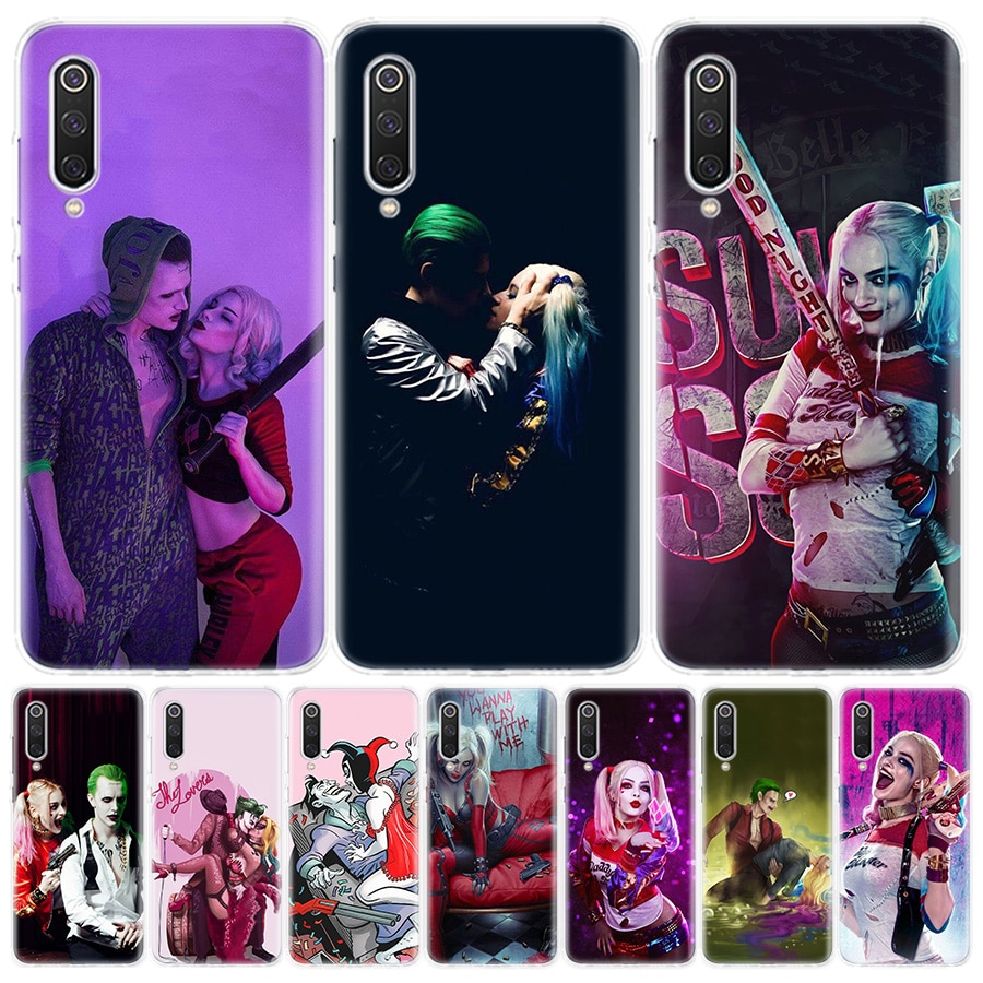 Funda de teléfono del Escuadrón suicida, Joker, Harley Quinn, para Redmi S2 Note 10 8T 8Pro 8 7 6 5 8A 8 7A 7 6A 6 K20 Xiaomi MI F1 9 8 5X 6X pro l