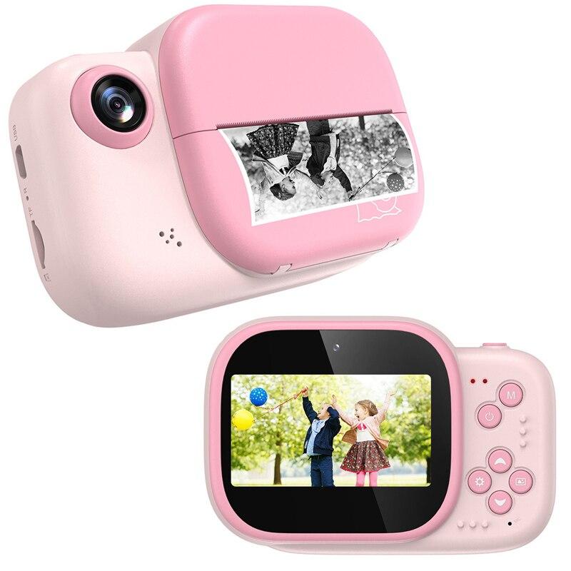 كاميرا فورية للأطفال كاميرا رقمية مع ورق الطباعة 12MP HD صور فيديو لعبة كاميرا الأطفال كاميرا هدايا أعياد ميلاد للأطفال