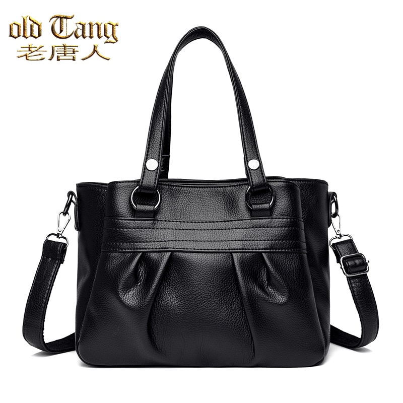 High Capacity Leather Shoulder Bags for Women 2021 New Composite Bag Lady Travel Crossbody Female Si