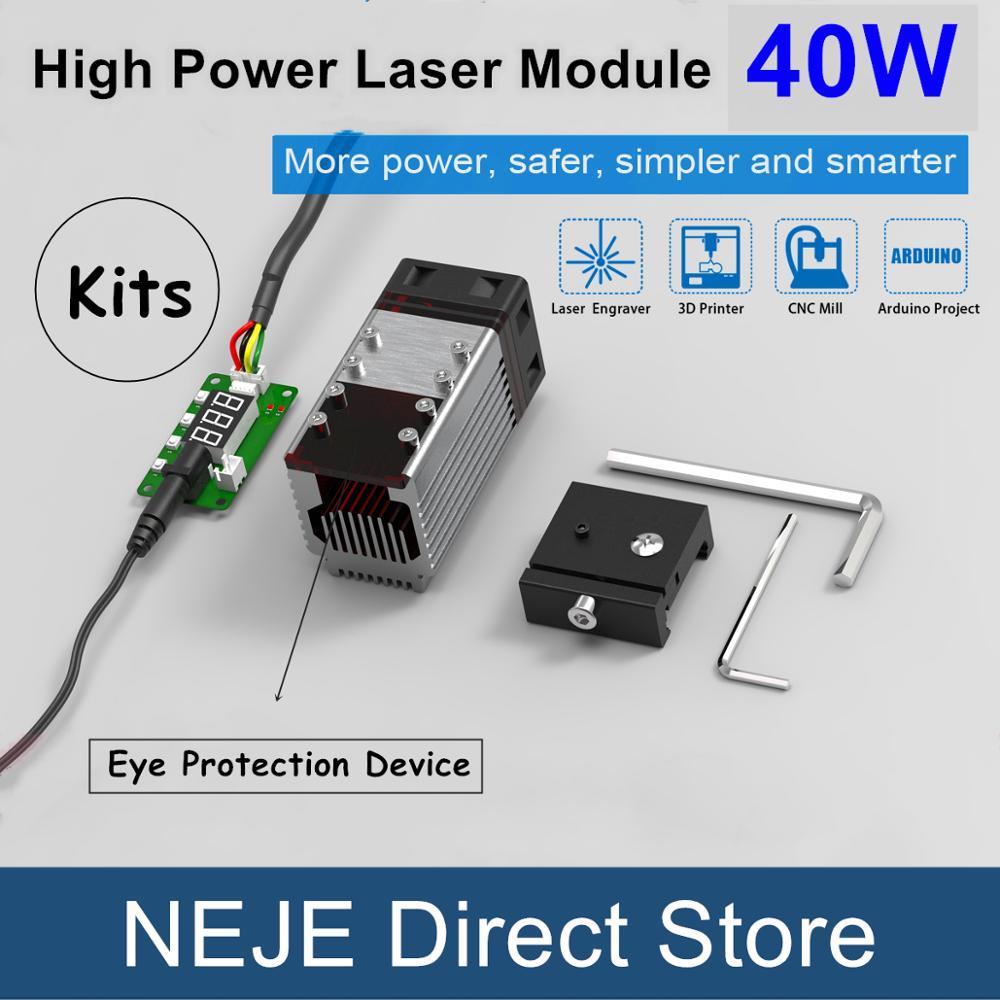 NEJE 40W Laser Module Focusing Laser Head 450nm TTL Module Kit for Laser Engraving Cutting Machine Engraver Wood Cutting Tool