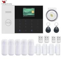 Yobang-kit dalarme RFID bras professionnel   Securite  kit intelligent Anti-cambrioleur GSM  systeme dalarme SMS Wifi GPRS  plusieurs langues disponibles