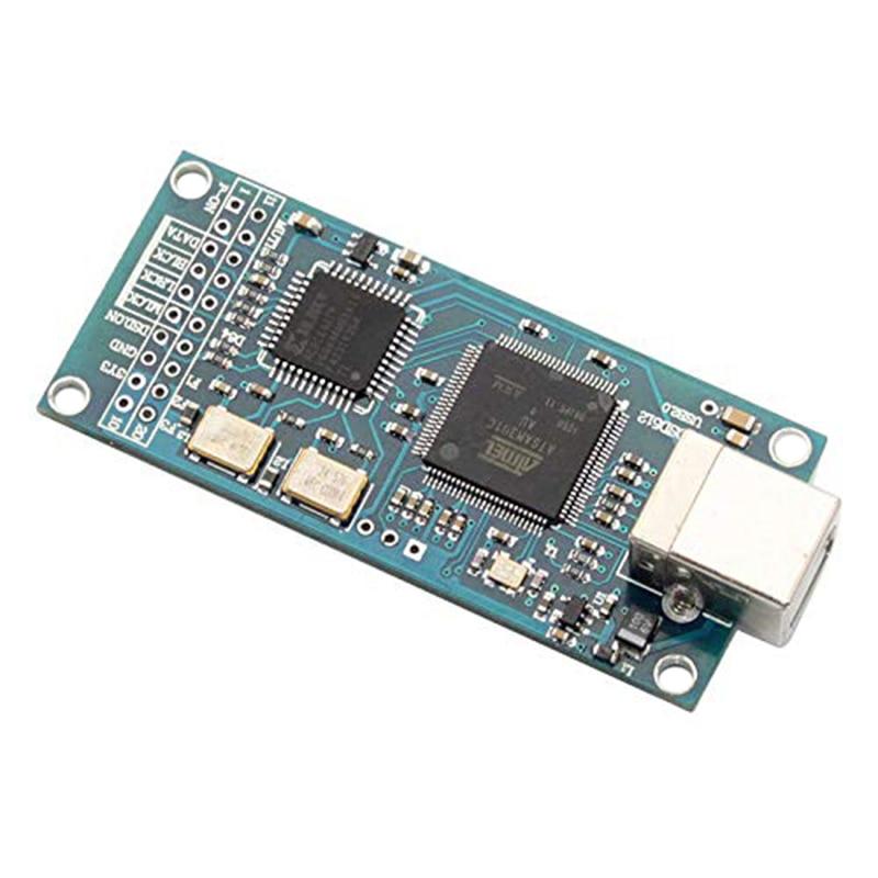 ATSAM3U1C XC2C64A para Amanero USB IIS, placa de decodificador de interfaz Digital DAC, compatible con DSD512, 32 bits, 384K, salida DSD I2S