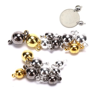 10pcs Magnetic Lobster Clasps Buckle Hook Round Ball DIY Jewelry Making Findings