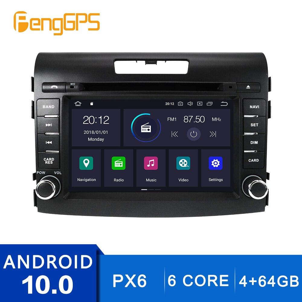 Android 10,0 reproductor de DVD para Honda CRV 2012-2016 pantalla táctil de navegación GPS Multimedia Unidad de 4G + 64G Carplay DSP PX6 IPS OBD2