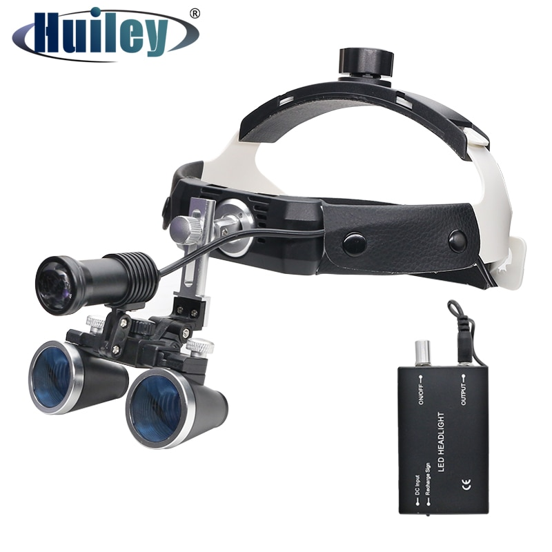 3.5X High Intensity LED Light Surgical Operation Medical Magnifier with  Dental Headlight Surgical Dental Loupes loupe magnifier surgical glasses 2 5x 3 5x dental loupes medical magnifier coated optical lens with clip for dentist surgical