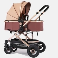 luxurious baby stroller 2 in 1 stroller lying or dampening folding light weight two sided child four seasons
