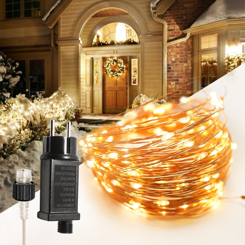 LED String Lights Decor Holiday Lighting Garland Fairy Lights New Year lights Outdoor Decorations Tr