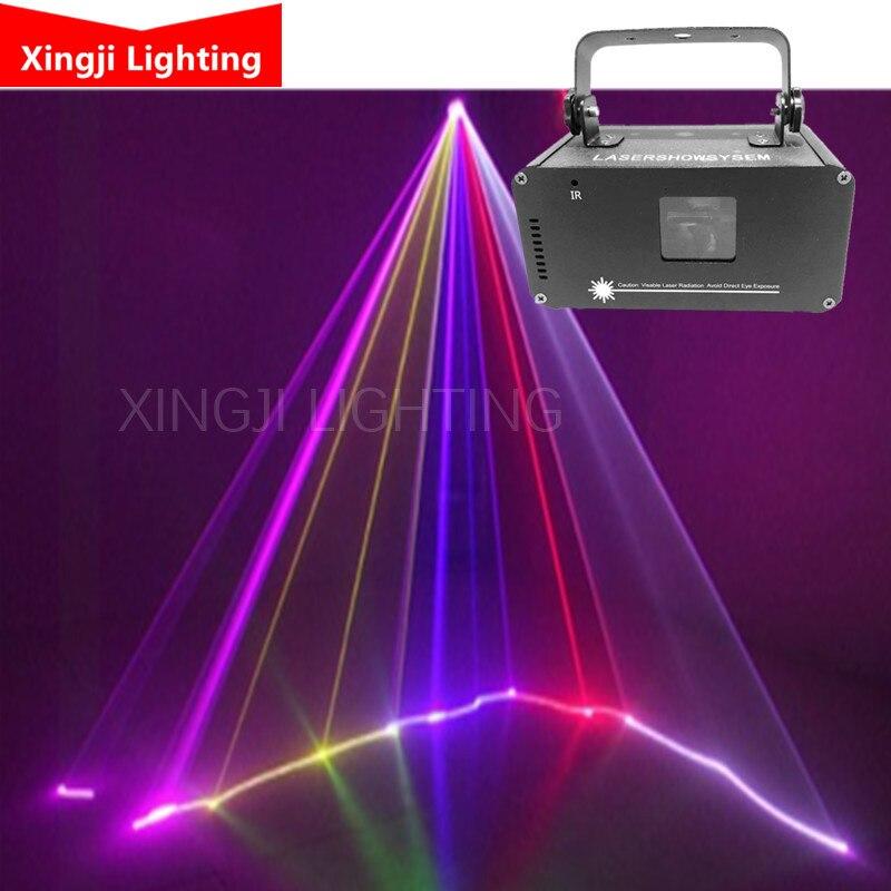 Profissional DJ show de Laser RGB Full Color Padrões linha Projector Stage Lighting Effect para Xmas Party Disco 1 cabeça do laser