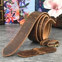 43mm wide double buckle belt leather belts without buckles men belt ceinture mens leather belts without buckles jeans belt sp18