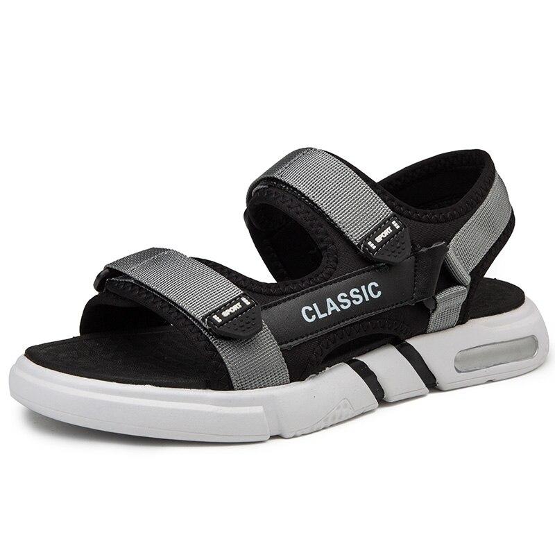 Męskie sandały duże odkryte sandalia letnie rzymskie praia męskie homme sole sandały buty hollow samool dla plastiku sport s