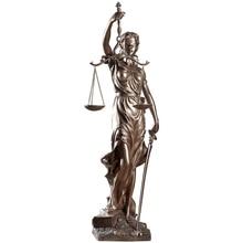 Style européen rétro Justice équité Statue salon décorations bureau cabinets davocats Statues décoration déesse Sculpture cadeau