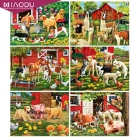 dbqp full square diamond painting dog craft kit diamond embroidery horse animal cross stitch mosaic home decor gift