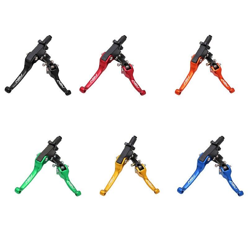ASV F3 2nd ShortAlloy Brake & Clutch handlebar lever for Motocross Motorcycle Pitbike Dirt Pit Bike Universal Patrs Red