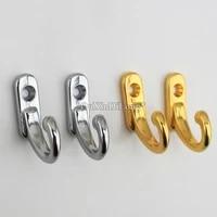 brand new 50pcs zinc alloy plating mini hooks wooden cabinet jewelry box case chest small hooks multi purpose hardware