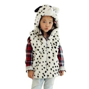 DOUBCHOW Cute Animal Vest Children's Cartoon Dalmatian Winter Sleeveless Hooded Kids Girls Boys Costume Cosplay Outwear Coat