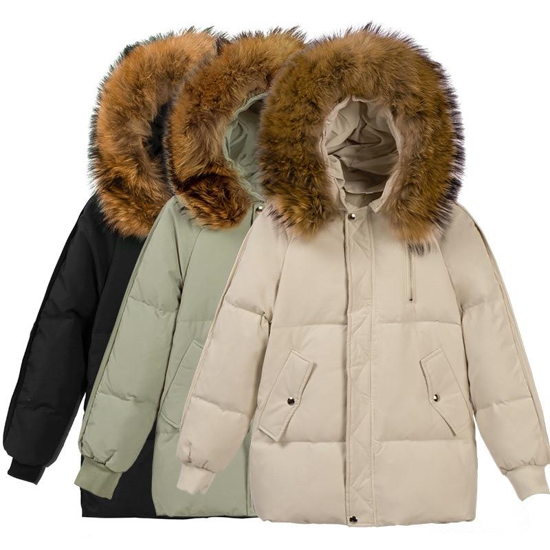 Женские зимние куртки, пальто, хлопковая теплая верхняя одежда, пальто, парки, свободные женские длинные парки в Корейском стиле, черная ули...