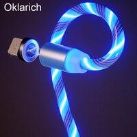 Зарядка Магнит USB кабель Магнитный Кабель Micro-USB для быстрой зарядки для iPhone 12 11 Samsung S21 Huawei телефон быстрозаряжающий кабель с разъемом 8 Pin про...