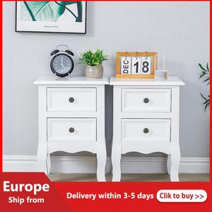 2pcs/set Modern Bedside Table Cabinet Nightstand With Storage Drawers Bedroom Furniture Bedroom Furniture Bedside Tables New HWC