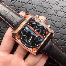 Mechanical watch Monaco-24 men watches Top Brand Luxury Men tonneau Automatic Tourbillon  Business H