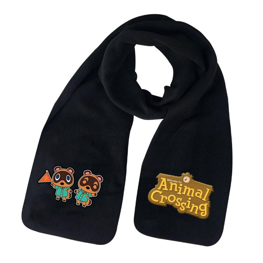 anime Animal Crossing Scarf teenagers Winter Warm Scarves Scarf boys girls cotton Scarf Unisex Warm Long Wrap Shawl Scarf