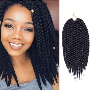 "Saisity Ombre Synthetic Twist Crochet Braid Hair 12"" 18"" 22""Senegalese Twist Crochet Braids 12 Roots Extensions Hair"
