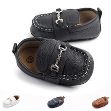 Soft Leather Toddlers Baby Shoes Classic Brand Infant Boys Girls Soft Sole Peas Shoes Moccasins Casu