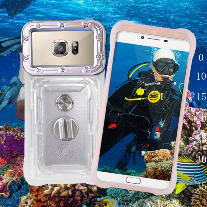 Caso impermeable para Xiaomi rojo mi nota 7 5 6 Pro teléfono móvil F1 mi 8 mi A2 Lite 6X 5X mi 9 SE cubierta subacuática fotografía teléfono bolsa
