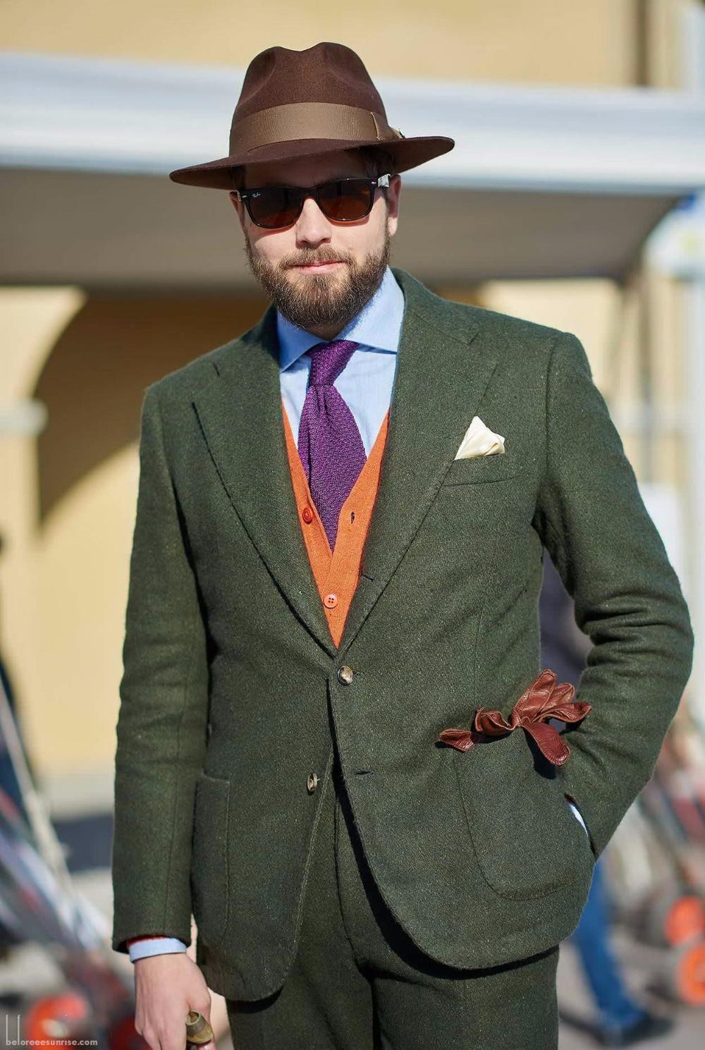 بدلة تويد خضراء مخصصة لحفلات الزفاف ، بدلة سهرة رسمية ، بدلة عشاء للعريس ، بدلة من 3 قطع (جاكيت + سترة سروال)