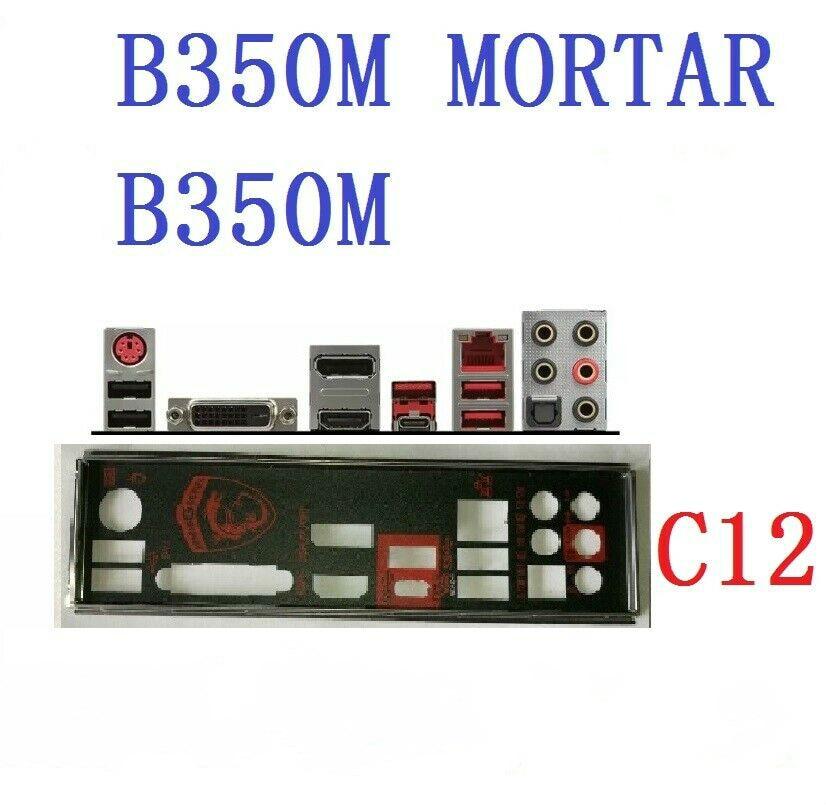 Placa posterior i/o protector IO para MSI B350M placa base de mortero