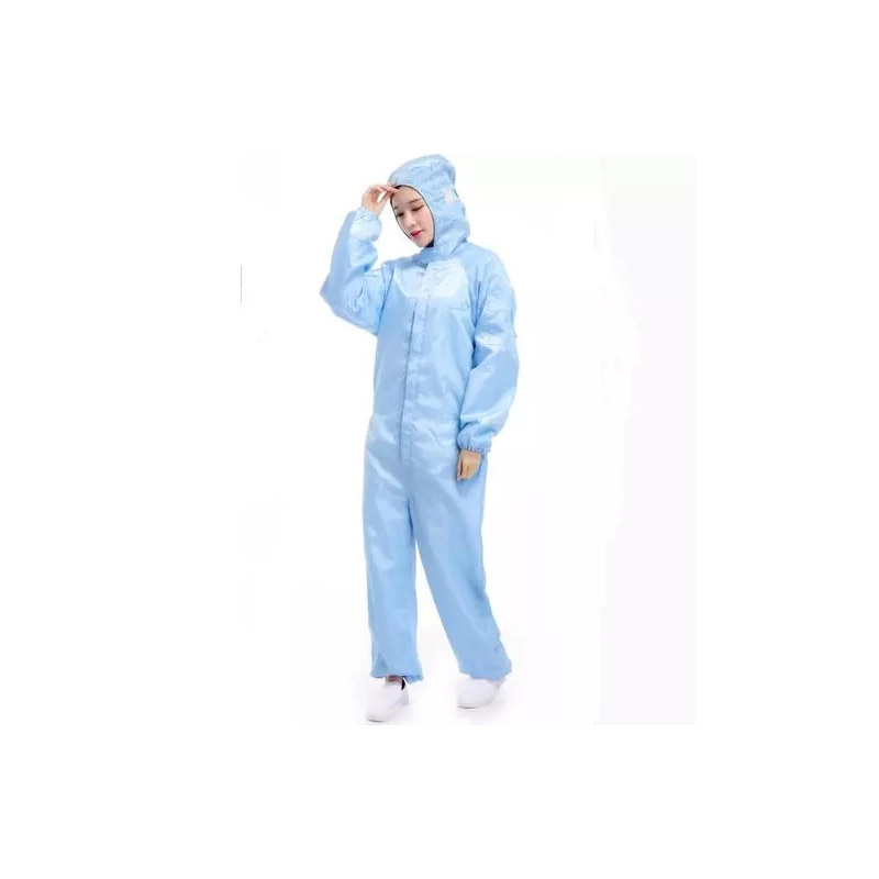 Anti - static clothing hooded separate dustproof clean dust-free food work clothes dust-free clothing spray paint work clothes factory outlet anti static safety cleanroom clothes dustproof workwear esd mens work overalls clean room long protective suit
