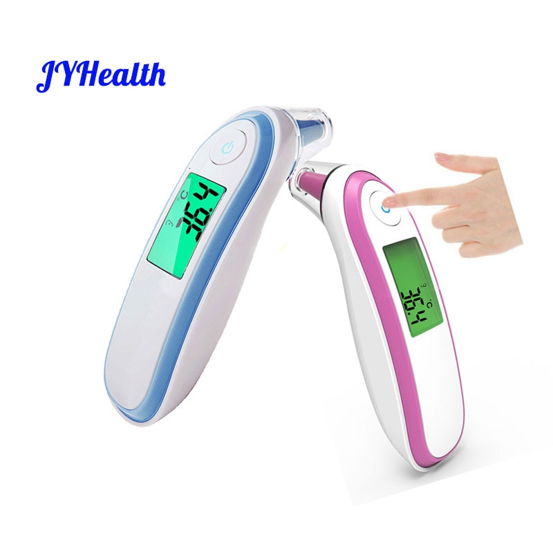 JYHealth Medical Household Infrared Digital Ear and Forehead Non-contact Laser Body Thermometer LCD Baby Adult Fever Temperature non contact infrared thermometer digital forehead home outdoor handheld laser body temperature fever ear baby adult