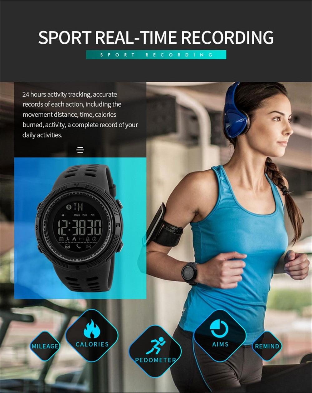 Reloj deportivo multifunción para hombre, cronógrafo Digital resistente al agua, con alarma,...