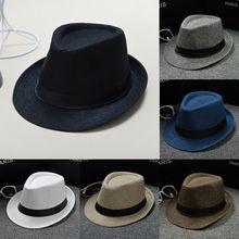 New Men Women Unisex Classic Fedora Hat Vintage Wide Brim Jazz Cap Foldable Travel Hats Cap 2021 New