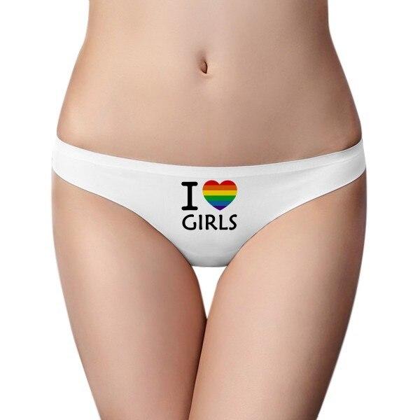 Bragas invisibles sin costuras transgénero con ilustración de corazón de bisexuales para mujer G-string t-back 2 uds de regalo