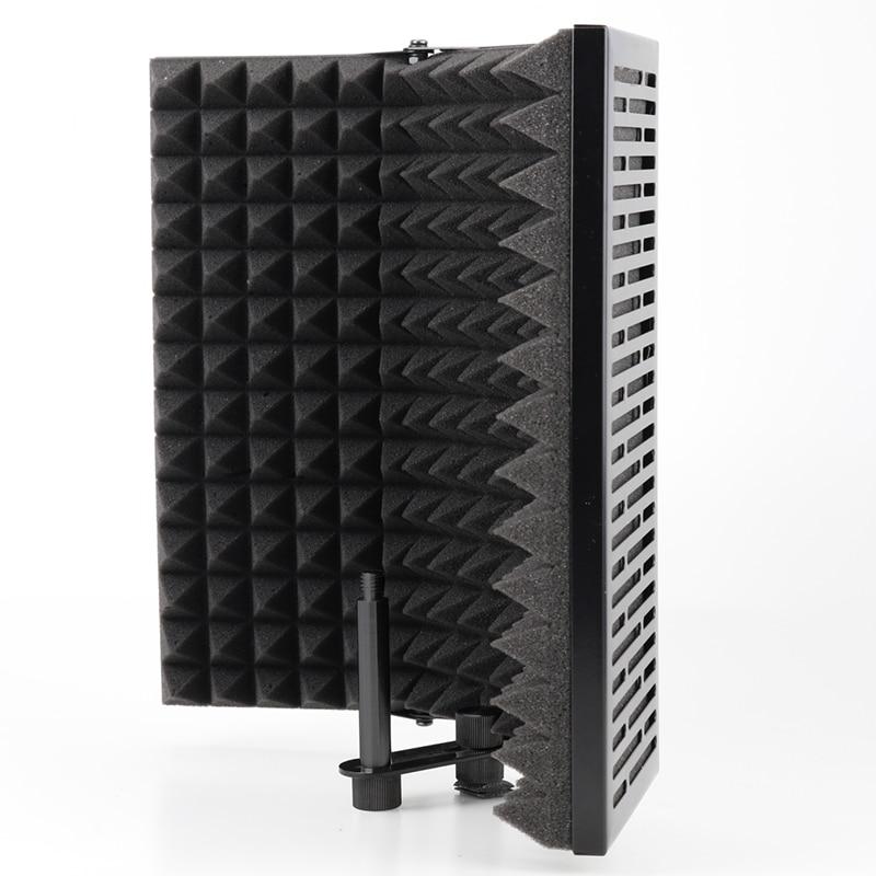 Складные аксессуары Icrophone, микрофонная изоляционная пена, акустическая панель, студийные аксессуары для микрофона для прямой трансляции