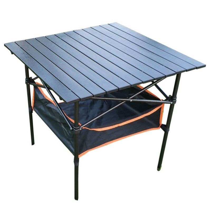 Mesa Plegable para exteriores, Mesa portátil ultraligera de aluminio, mesas de barbacoa,...