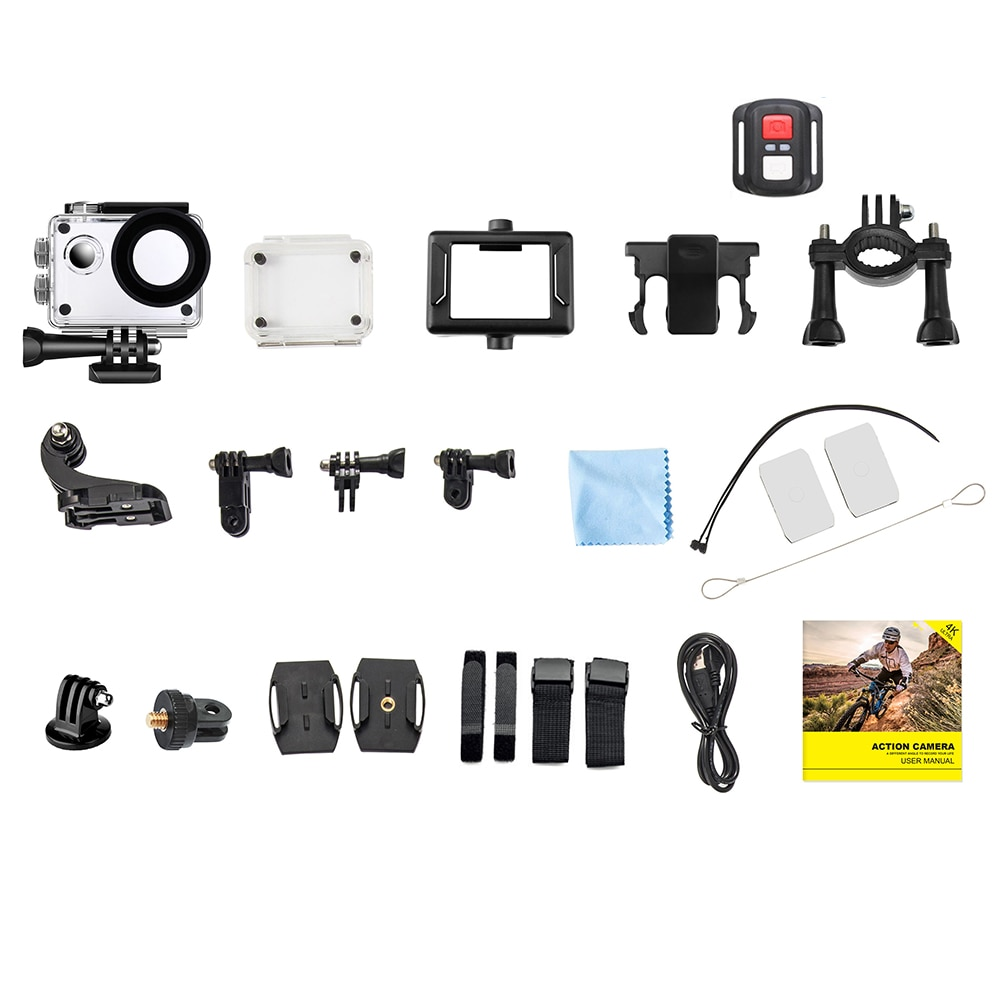 Ultra HD 4K 60fps Action Camera WiFi 20MP 2.0 Inch 30M Go Waterproof Pro Helmet Bicycle Video Recording Camera Sport DV Cameras enlarge