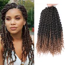 Mtmei Hair Spring Twist Hair Extensions 14 Inch Pre Twisted Spring Twist Crochet Hair Black Brown Ombre Crochet Braids Hair