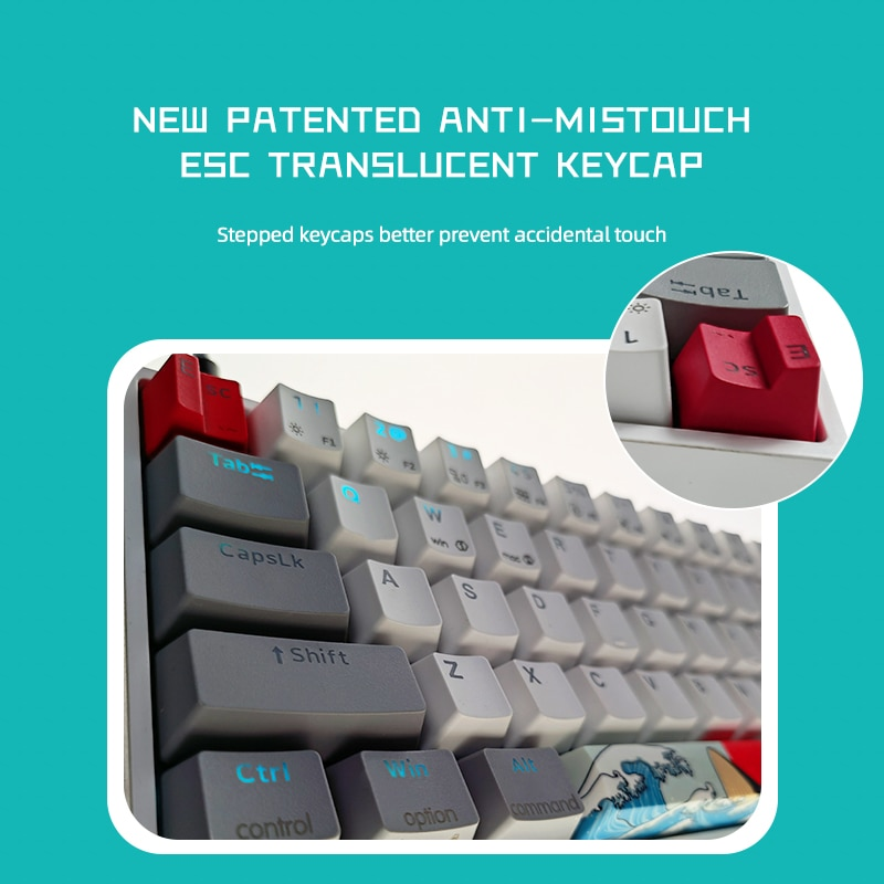 Skyloong Mechanical Keyboard USB Wired LED Backlit Axis GK61 SK61 61 Keys Gaming Mechanical Keyboard Gateron Switches Gamer Kits