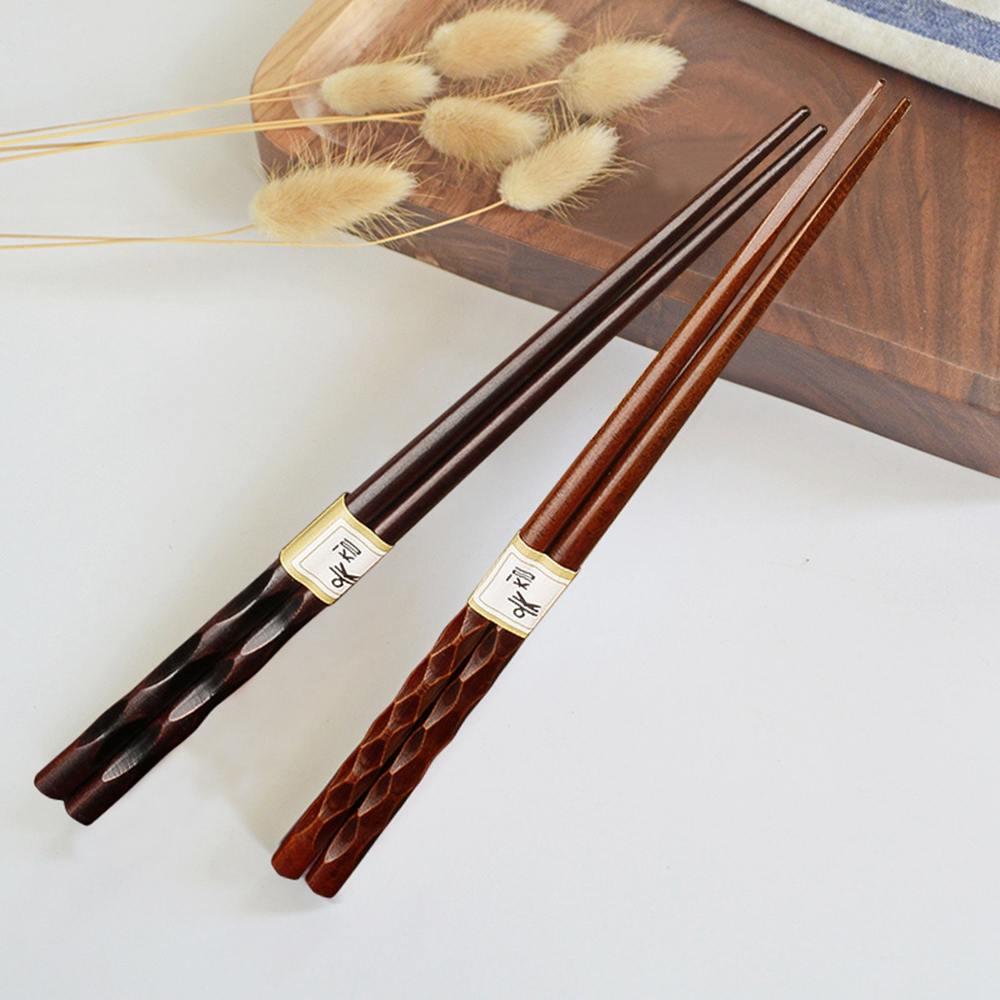 8 Pairs Japanese-style natural handmade wood baby chopsticks Japan/China eating ware chop sticks with string round